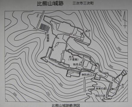 比熊山城跡 縄張り図