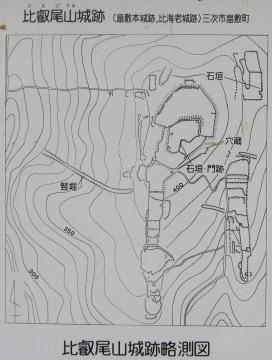 比叡尾山城跡 縄張り図