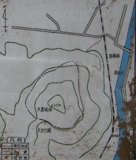 大富山城 見取り図