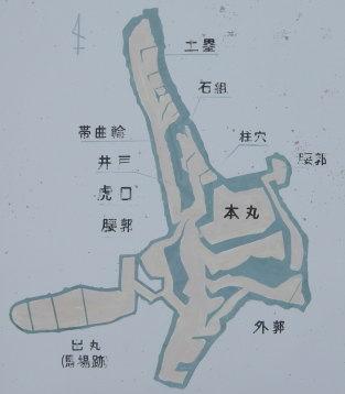 鷲尾山城 縄張り図