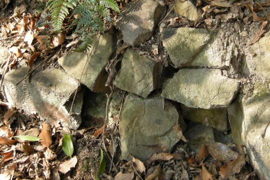 銀山城 石積み