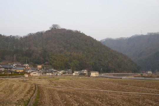 楢崎城 遠景