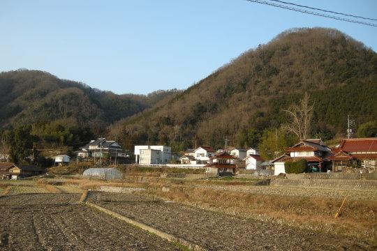 比叡尾山城の遠景