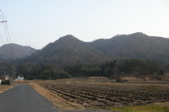 茶臼山城 遠景
