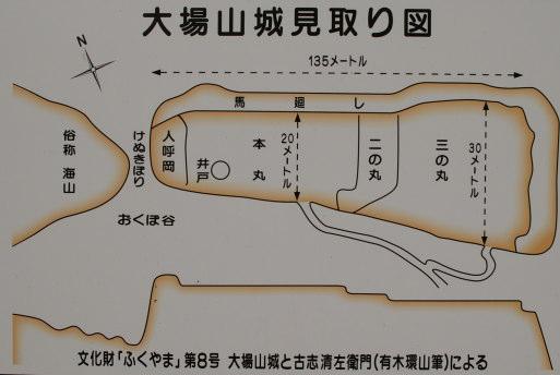 大場山城 見取り図