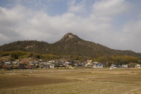 岩山城 遠景