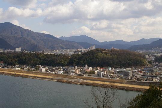恵下山城 遠景