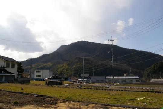 木の宗山城 遠景