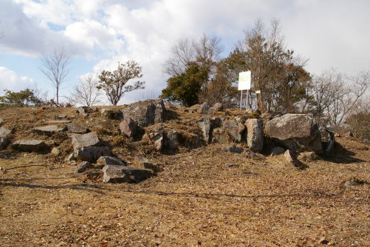 木の宗山城 本丸跡