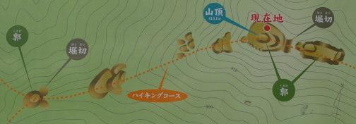 木の宗山城 見取り図