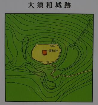 大須和城 見取り図