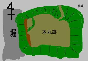 堀城 見取り図