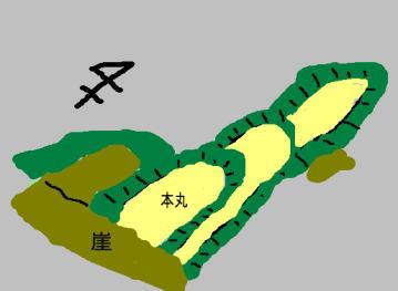 行武城 見取り図