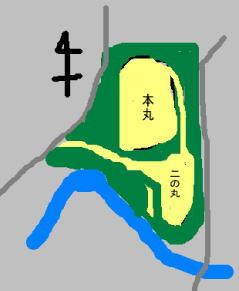 阿良井城 見取り図