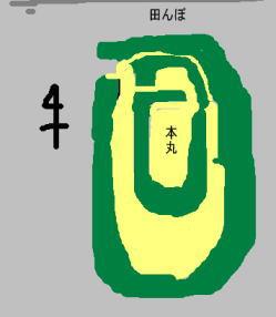 宍戸城 見取り図