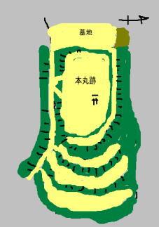 龍王山城 見取り図