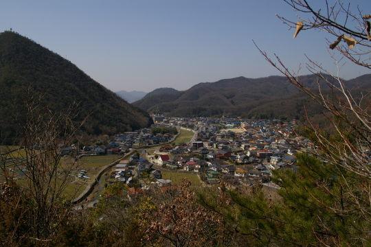 茶臼山城 道中の展望