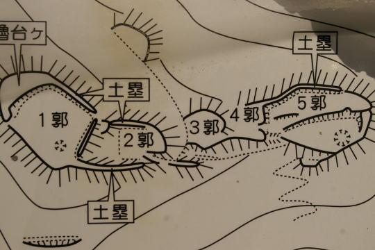 松尾城 見取り図