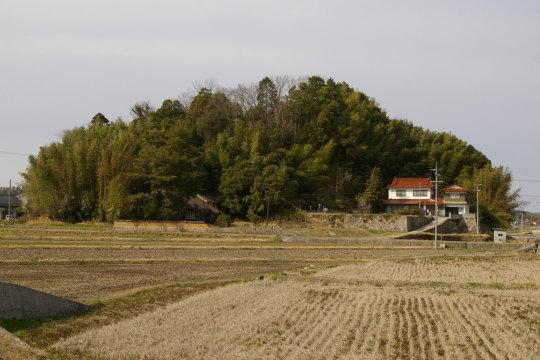 神笠城 遠景