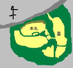 青木城 見取り図