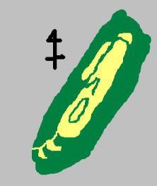 猿掛山城 見取り図