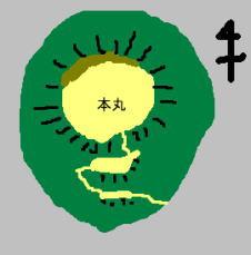 上野城 見取り図