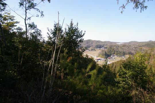 勝負迫城 北東側の展望