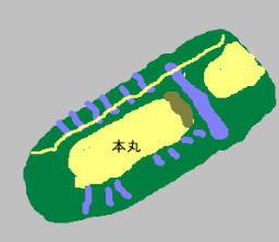 上田城 見取り図