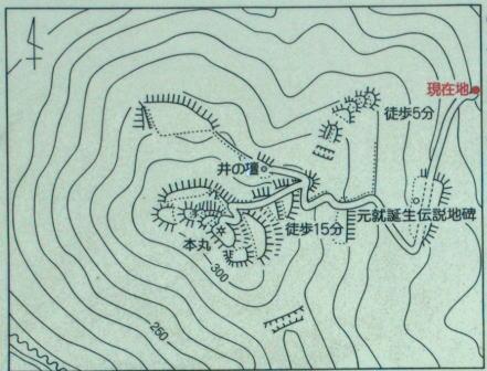 鈴尾城 見取り図